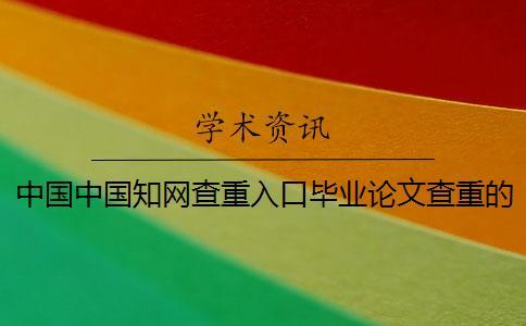中国中国知网查重入口毕业论文查重的优势是哪一个??