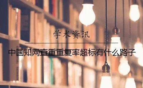 中国知网查重重复率超标有什么路子
