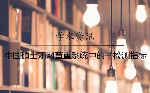 中国硕士知网查重系统中的子检测指标关于段的定义及其指标