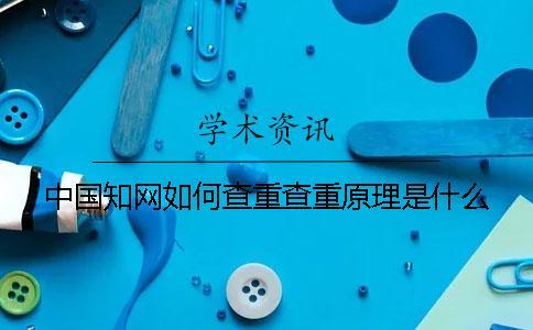 中国知网如何查重?查重原理是什么?